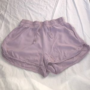 Aritzia Azure Skies Purple Shorts